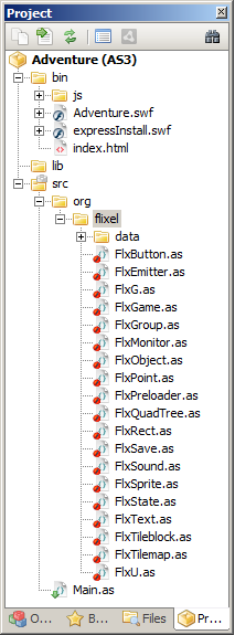 Flixel in project manager
