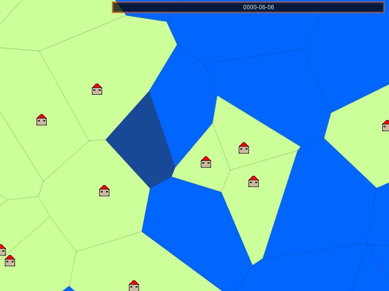 Voronoi cells land provinces